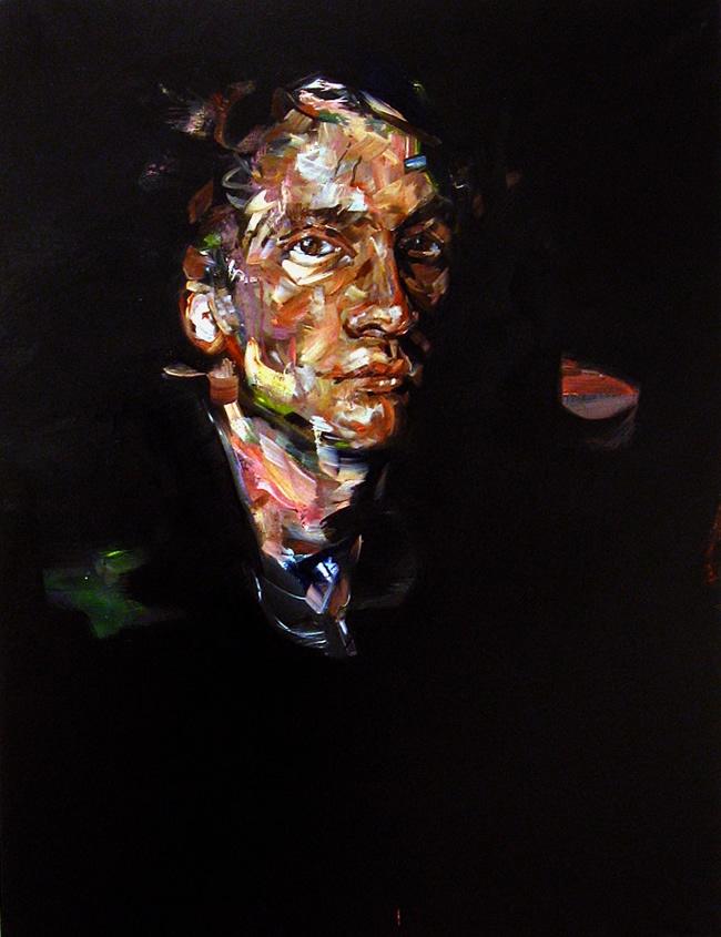 """""""Black Self Portrait (as Dionysus),"""" by Andrew Salgado"""
