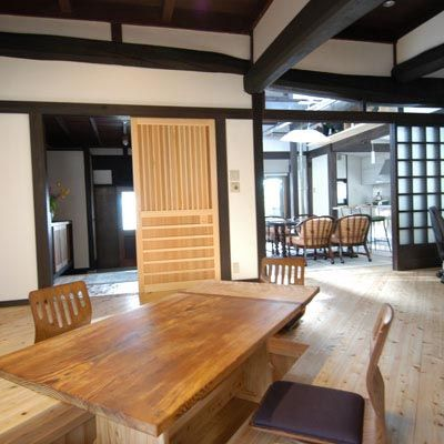Cozy Japanese Style Living Dining Room With Hibachi