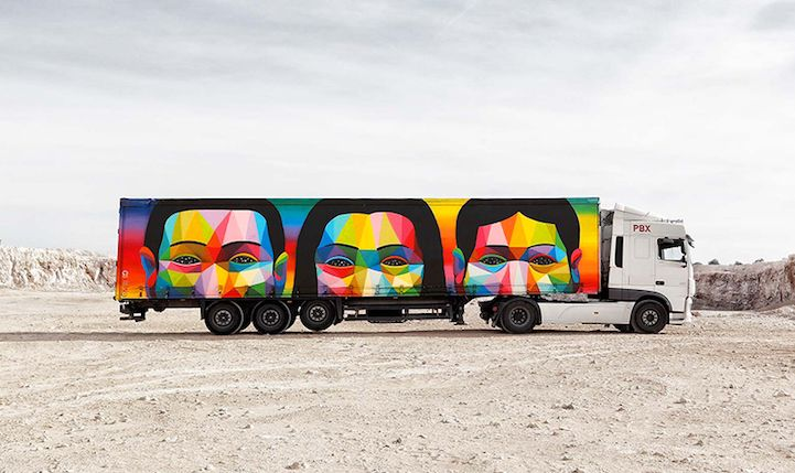 Freight Truck Exteriors Are Being Transformed into Mobile Art Galleries | My Modern Met