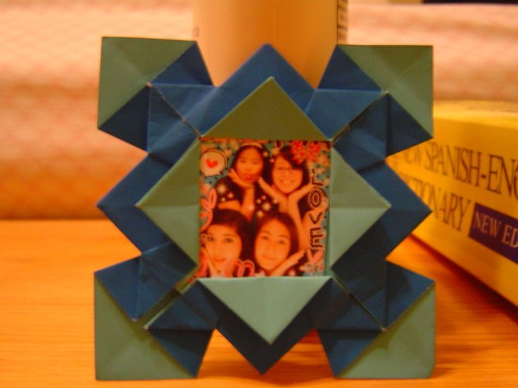 Origami Picture Frame by ~aiaoicho on deviantART