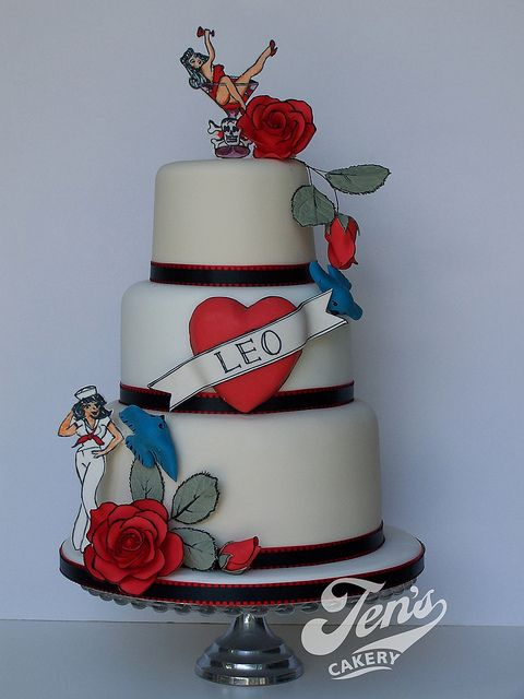 Vintage Sailor Jerry Tattoo Cake...My absolute FAVORITE cake so far!!!