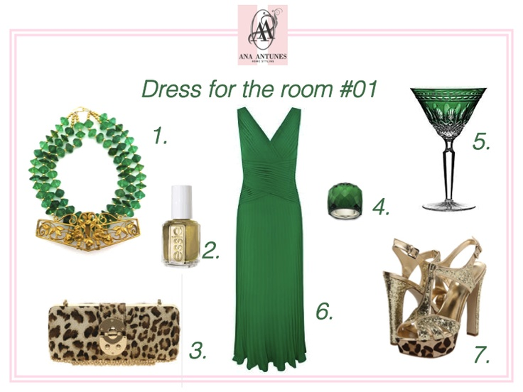 emerald, green, dress for the room