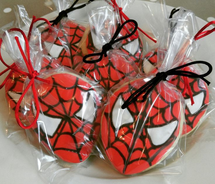Spider-Man Party Favours @thelittlebakingco
