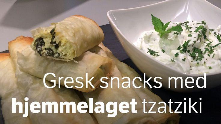 I Hellas kan du kjøpe ruller med spinat og fetaost i bakerier. Lett å lage selv, garanterer rockekokk Mats Paulsen.