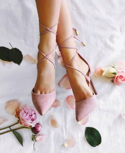 blushing for lace-ups