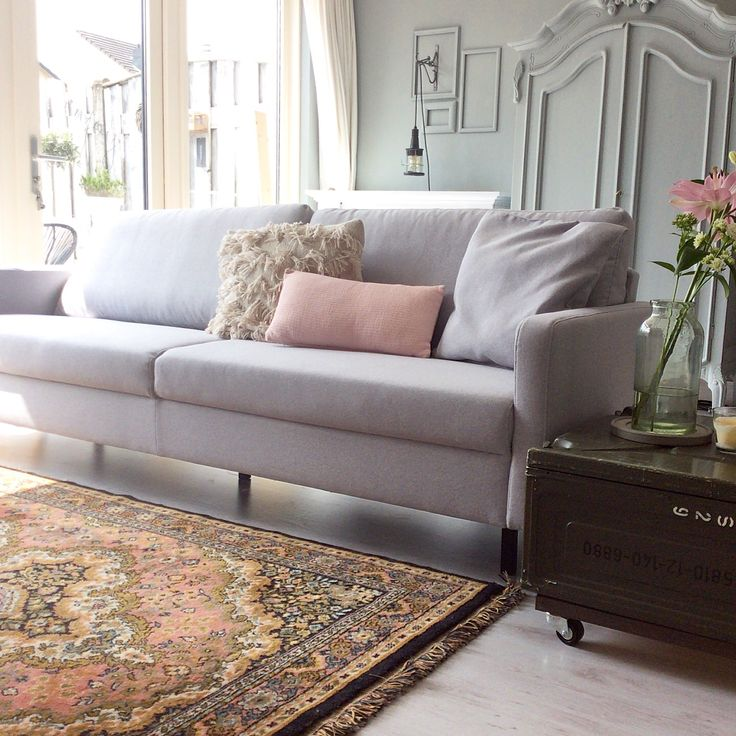Our livingroom with the grey Noa Woood sofa may 2016
