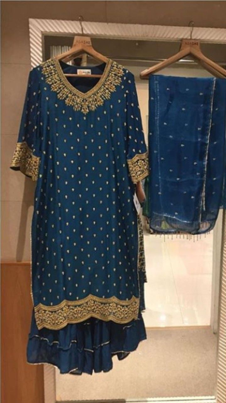 Beautiful hand embroidered kurta set this festival you can choose