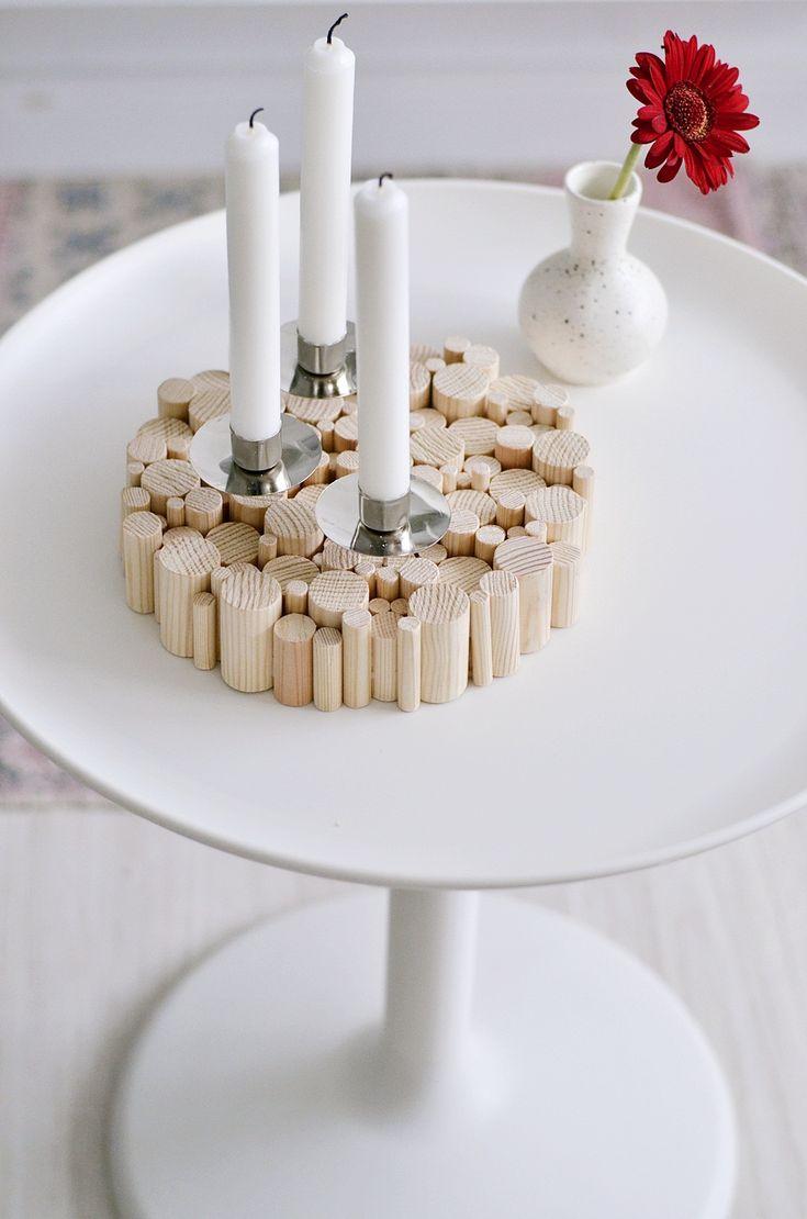 [Nachmachtipp] Kerzenhalter aus Rundhölzern