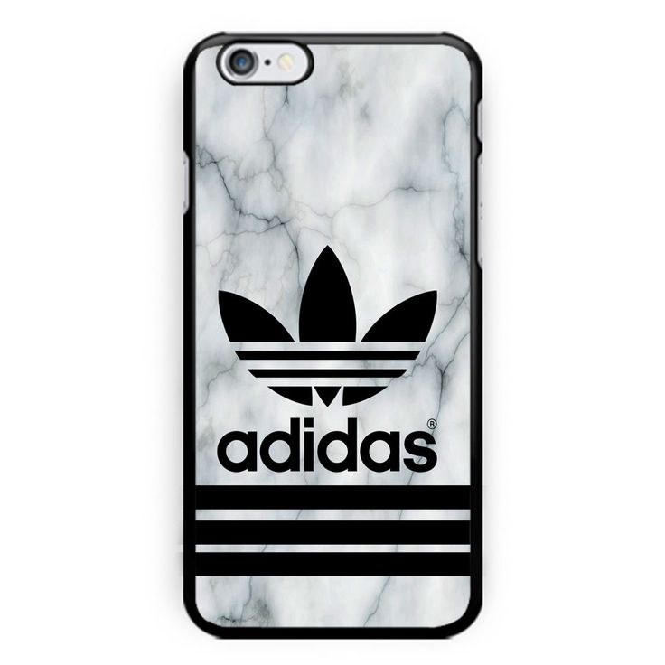 Adidas Logo White Marble Print On Hard Case For Iphone 6s