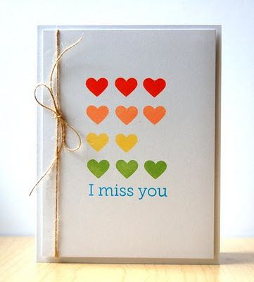 13 best miss you cards ideas images on pinterest cards homemade miss you card m4hsunfo