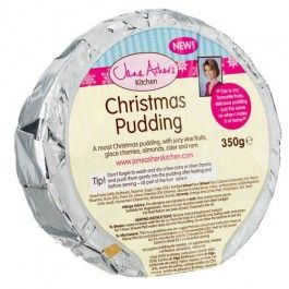 Jane's favourite Christmas pudding, moist with juicy vine fruits, glace cherries, almonds, cider and rum. Perfect for steaming or microwaving.