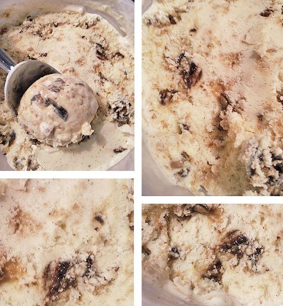 En cremet og fyldig vaniljeis med stykker af knuste heksehyl-cookies og ekstra heksehyl-bidder, en kold lakridsdrøm! Hvis den ikke skal spises direkte af isbøtten (i bedste amerikanske stil), så ved jeg ikke, hvad den skal.