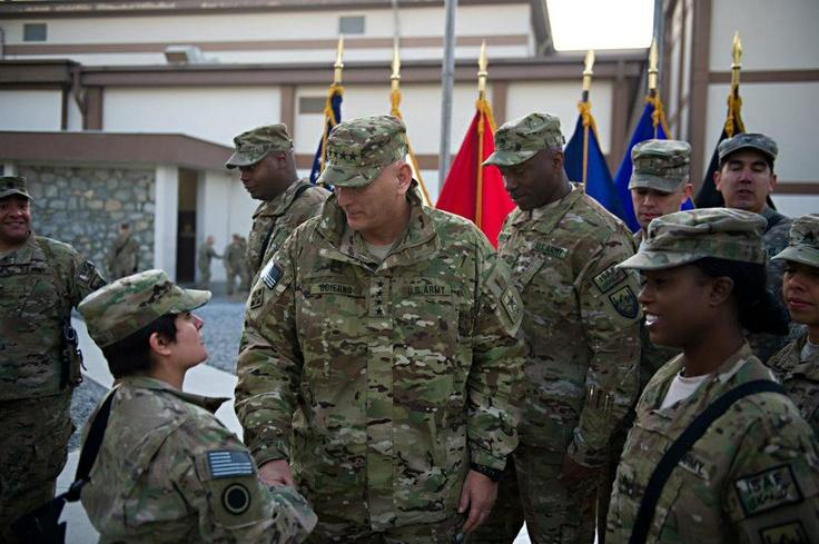 Greeting Soldiers at the U.S. ForcesAfghanistan
