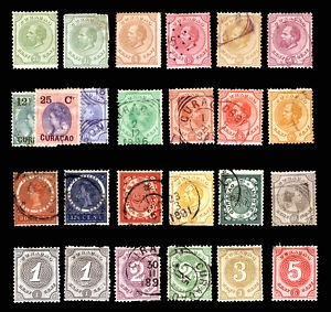 Curacao #1-#41 1873-1908 Nice Mint & Used Lot 25 items