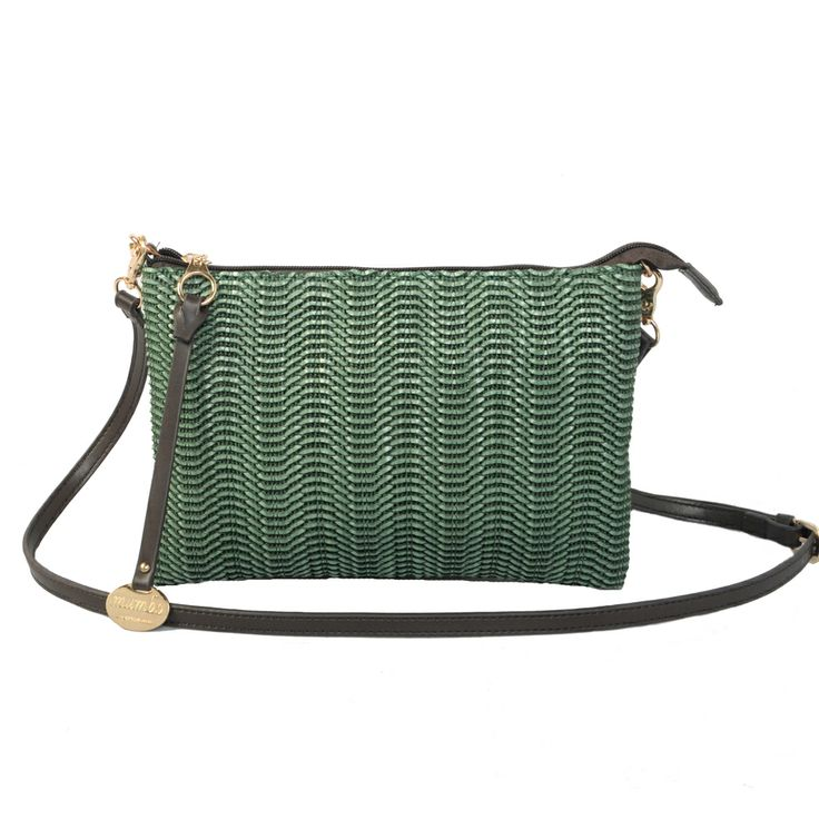 rafia green handbag