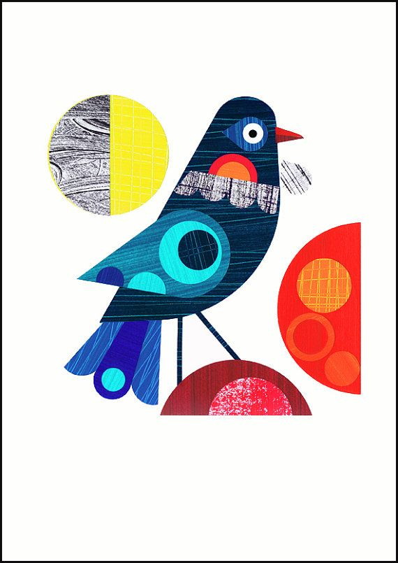 New Zealand Tui bird  print by EllenGiggenbach on Etsy, $18.00
