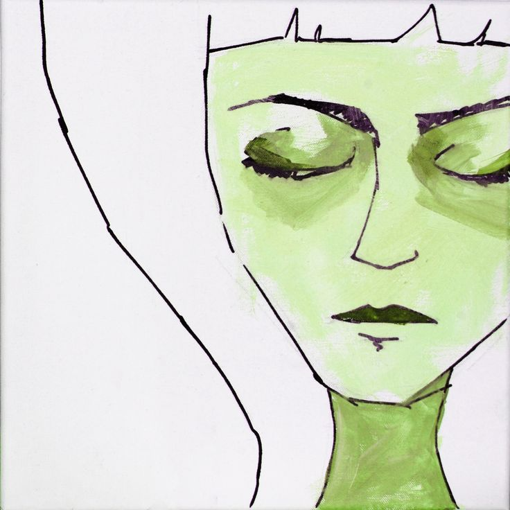 #illustration, #green, #face, #portrait, #drawing, #handdrawing