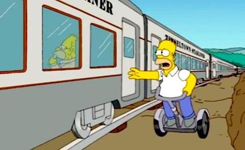 The Simpson on Segway X2. Ocitània, Gualta, Girona, Costa Brava, Empordà, Catalunya, Spain.  www.ocitania.cat