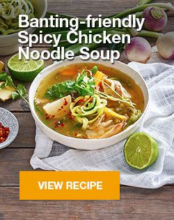 Banting-friendly Spicy Chicken Noodle Soup