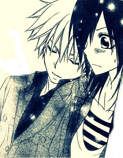 Usui Takumi and Misaki Ayuzawa (Kaichou wa Maid-sama!) *thumbs up* I ship it