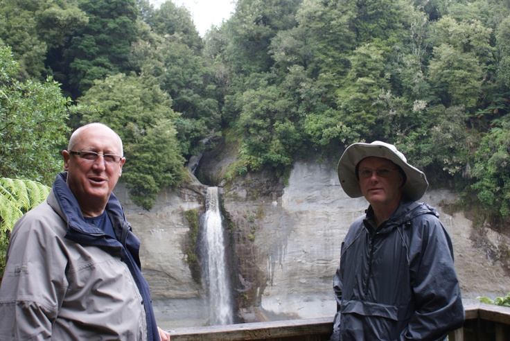 With my brother Tony at Mount Damper Falls 17 February 2010