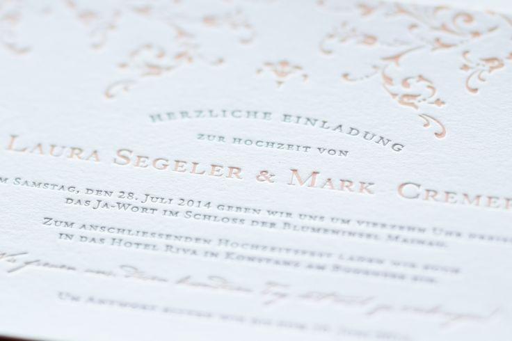 Letterpress Hochzeitseinladung - www.hochdruckgebiet.de