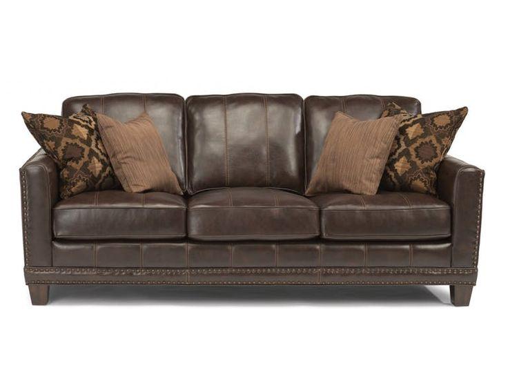 Flexsteel Living Room Leather Sofa 1373 31