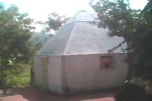 Sri Krishna Pyramid Meditation Center,year of construction : 2010 size : 12ft x 12ft (land pyramid) | capacity : 40 persons cost Incurred :  70,000 | type of structure : RCC   timing : enquire, open for public use technical support : K Kanaka Raju, +91 93476 16142 contact : Ramesh, +91 99498 04188 address : Arigilavaripalli, Panapaakam, near Nendragunta. http://www.pyramidseverywhere.org/pyramids-directory/pyramids-in-andhra-pradesh/rayalaseema/chittoor-district