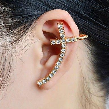 LOVE THIS!!! Stone Set Cross Ear Cuff – USD $ 2.99