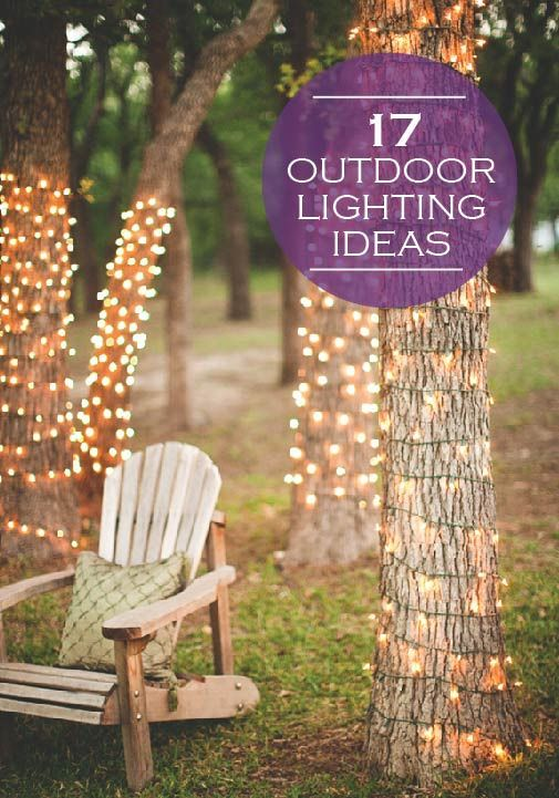Brighten up your backyard this summer with any of these 17 creative outdoor lighting ideas! #creative #outdoor #lighting #backyard #summer
