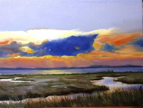 "Daily Paintworks - ""Sunset Marsh"" by Maureen Killaby"