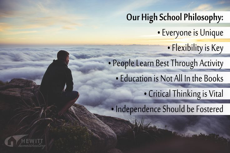 Our Highschool Philosophy: Students are different in how they learn, what they enjoy, and...
