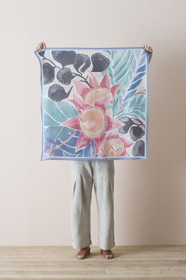 Three designs adorn the beautiful Nancybird square scarves this season, with a floral, painterly abstract, and classic geometric design on...