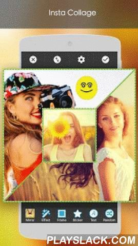 Insta Collage With Filters  Android App - playslack.com ,  Insta Collage creates the best photo collages by combining your favorite photos together.Insta Collage has more than 50 awesome background and 100+ layouts.Insta Collage Features:*) Create collage up to 20 photos.*) There are more 100+ Grids and 20+ Splits for you to collage photos.*) Free style photo collage.*) Real-Time Grid camera, make photo collage in real time.*) Background color and background pattern support.*) Apply 20…