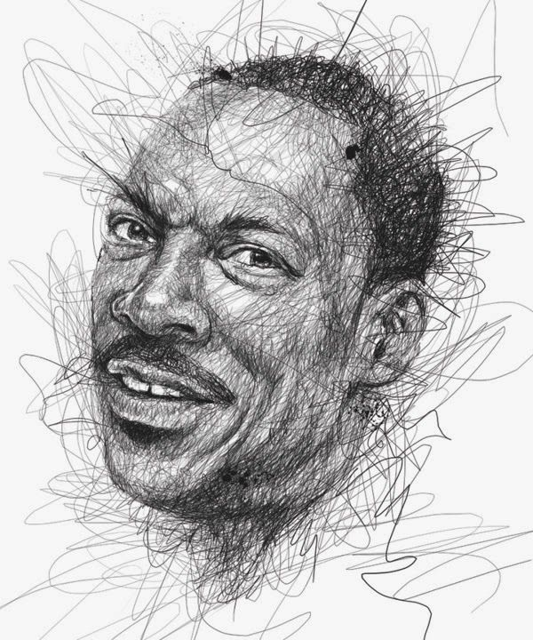 Awesome Face Sketches By Vince Low | Eddie Murphy