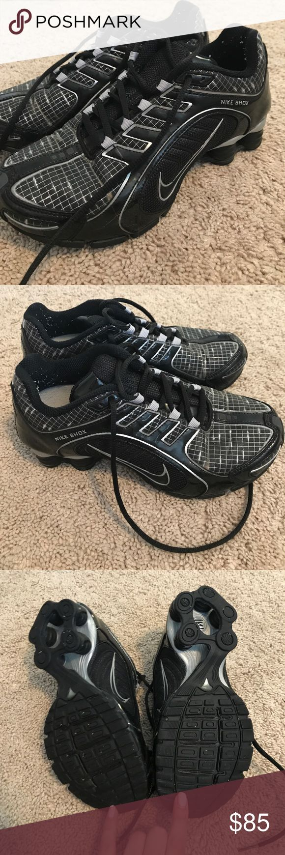 Black nike shox Really good used condition. Any wear is shown in pictures Nike Shoes Sneakers