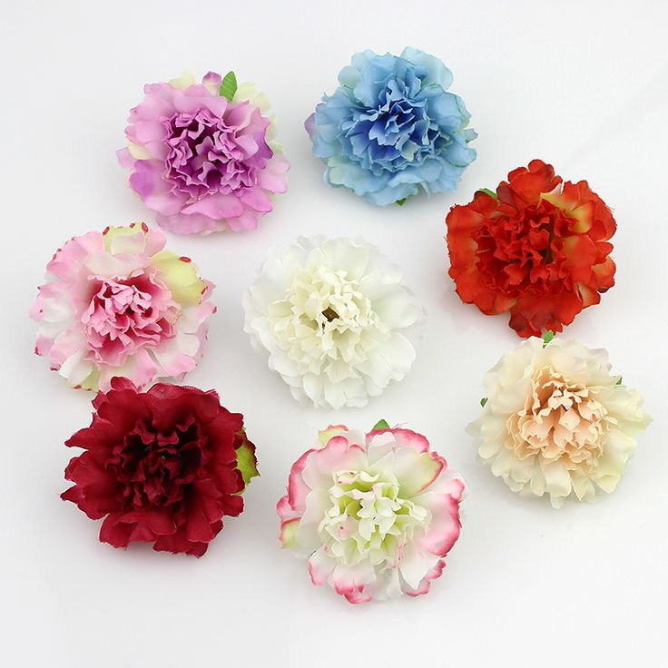 50pcs/lot Approx 5cm Artificial carnation Flower Head Handmade Home Decoration DIY Event Party Supplies Wreaths-in Decorative Flowers & Wreaths from Home & Garden on Aliexpress.com | Alibaba Group