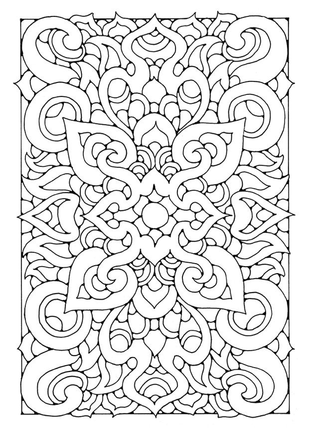 This Links To Image And Lots More Mandalas Etc Color Pinner Says Think How Awesome Would Be Embroidered Coloring Page Mandala