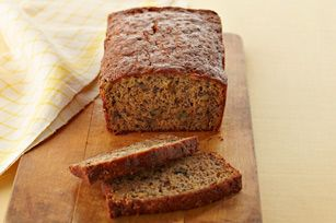 Banana bread, no oil, uses MW, kind of weird but I would try it