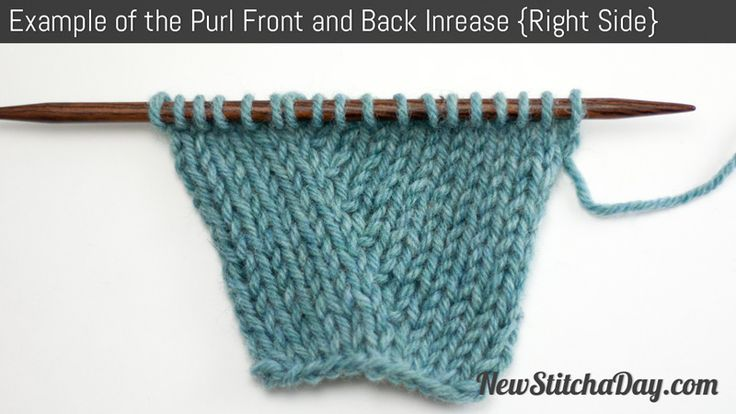 This increase is used for increasing stitches on the purl side of your work. The purl front and back decrease is commonly used in entrelac knitting.
