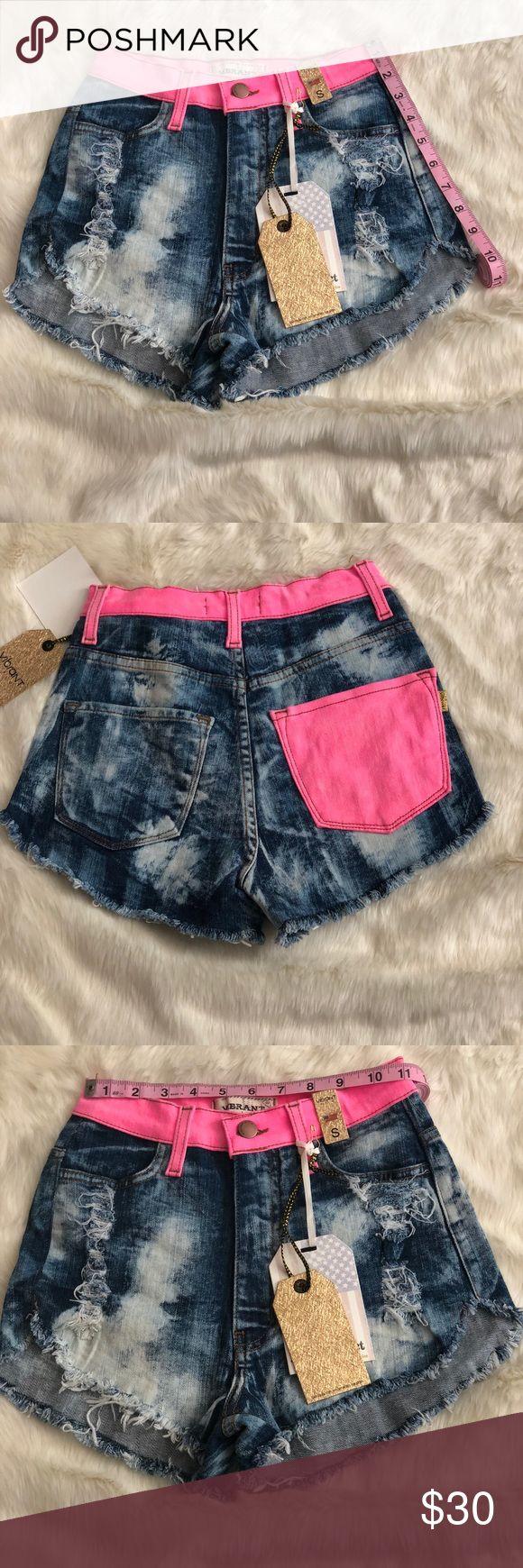 🎉3 cut offs acid wash shorts🎉 Three acid wash cut offs in different fun and vibrant summer colors. vibrant M.I.U Shorts Jean Shorts