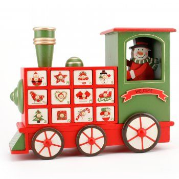 Wooden Train Advent Calendar | Countdown To Christmas