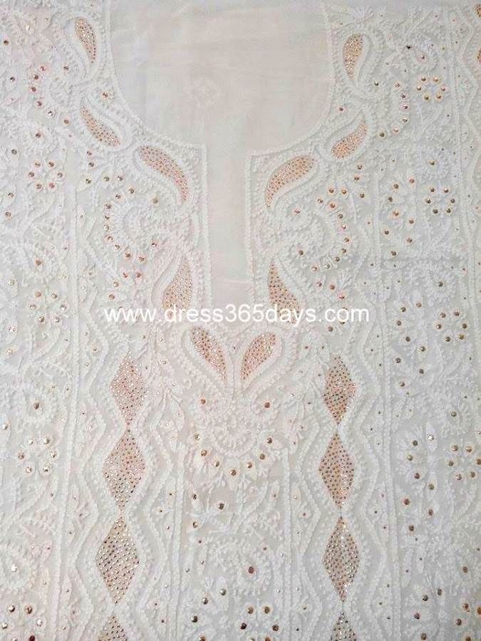 Buy Party Wear Chikan Work Suit with Mukaish/ Badla Work(Two Piece)