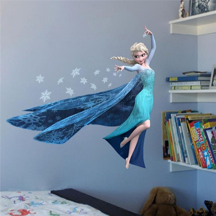 Popular Princess Elsa Wall Stickers For Kids Room Decoration Cartoon Film Home Decals Girls Boys Gift d