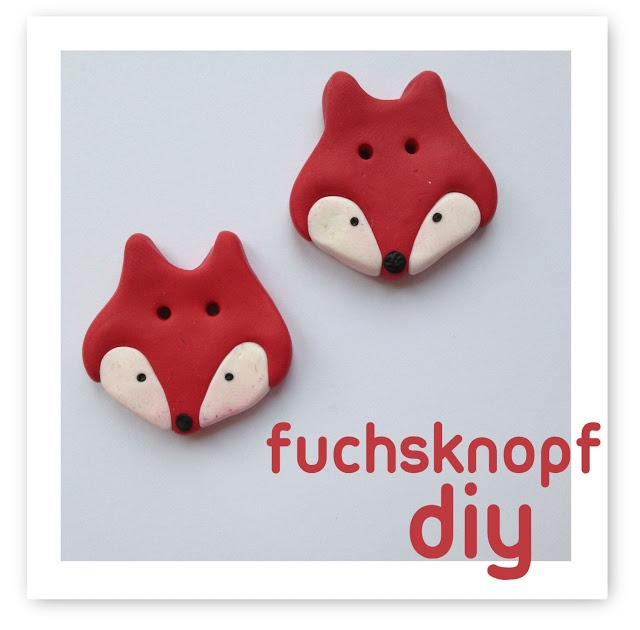 Fuchsknöpfe aus Fimo!
