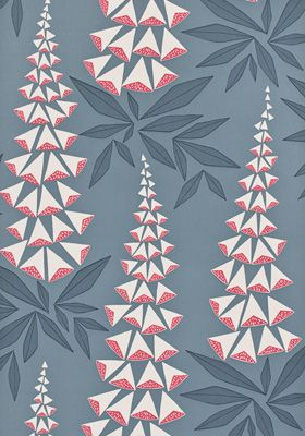 Foxglove Tiki Wallpaper by MissPrint. PEFC certified and printed in the UK