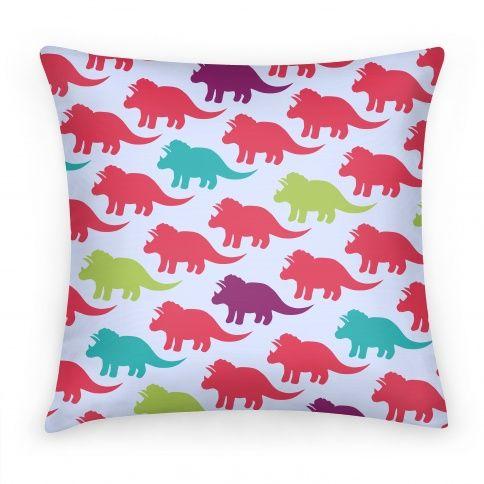 Triceratops Dino Pattern Pillow  | HUMAN