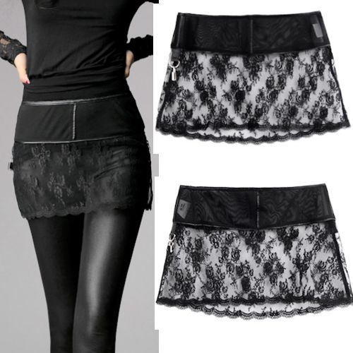 **link doesnt work**Sexy Black Lace Short Micro Mini Gothic Burlesque Fashion Skirt Women SKU-11406265