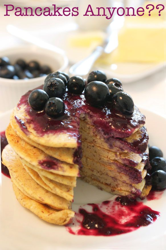 Coconut Corn flour Pancakes With Blueberry Sauce - Gluten Free!! Just ...