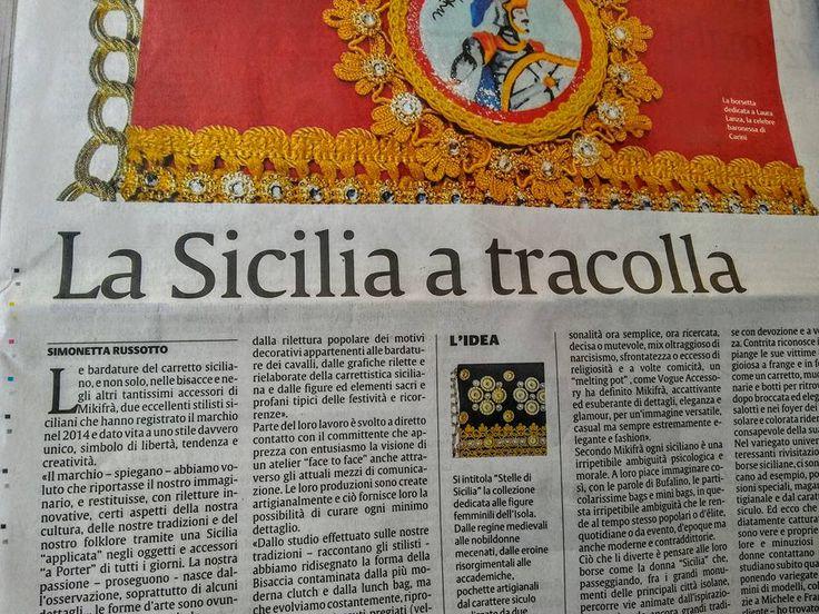 """L'intervista a Mikifrà sul giornale """"La Sicilia"""" di Catania"""